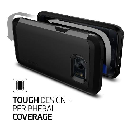 [Samsung Galaxy S7] Case, Spigen [Tough Armor] HEAVY DUTY Extreme Protection / Rugged but Slim Dual Layer Protective Case [Black]