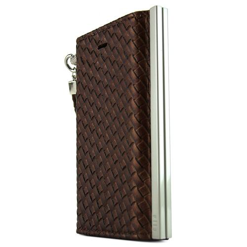 Apple iPhone SE / 5 / 5S Wallet Case, Nodea [Brown] Ella Mash Series Slim & Protective Flip Cover Diary Case W/ Id Slots & Magnetic Closure