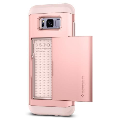 Samsung Galaxy S8 Case, [Spigen] Slim Armor CS Case W/ Slim Dual Layer Wallet Design and Card Slot Holder [Rose Gold]
