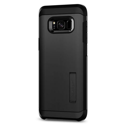 Samsung Galaxy S8 Case, [Spigen] Tough Armor Case w/ Kickstand, Extreme Heavy Duty Protection and Air Cushion Technology [Black]