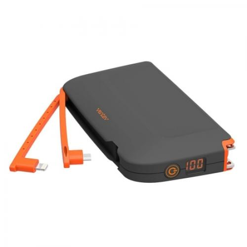Ventev Powercell 10000+ Backup Battery 10000mAh [Gray/ Orange]