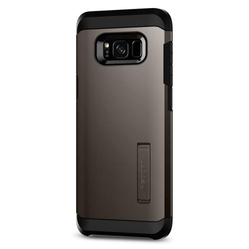 Samsung Galaxy S8 Plus Case, [Spigen] Tough Armor Case w/ Kickstand, Extreme Heavy Duty Protection and Air Cushion Technology [Gunmetal]