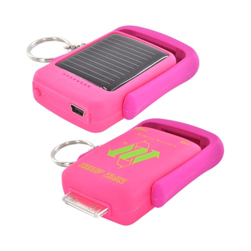 Original Neon Green Apple iPhone/ iPod Lil' Piggy Power Bank Solar Powered Charger, 59442 - Hot Pink/ Magenta Betty