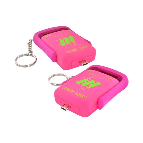 Original Neon Green Micro USB Lil' Piggy Power Bank Solar Powered Charger, 59485 - Hot Pink/ Magenta Betty