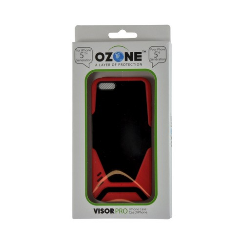 Apple iPhone SE / 5 / 5S  Case, Hornettek Ozone [Red/ Black] VisorPro Hard Case