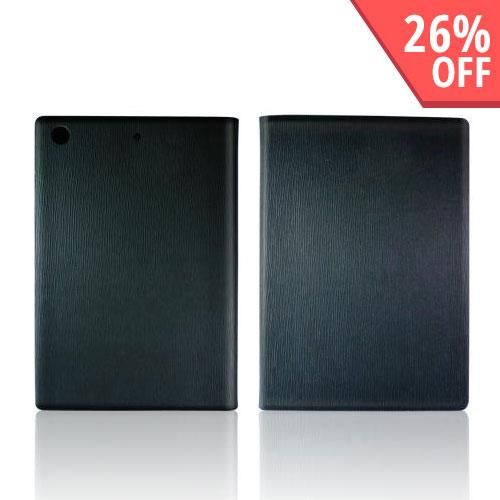 Hornettek Ozone Atom Series Black Hard Case Stand w/ Textured Lines & Card Slots for Apple iPad Mini