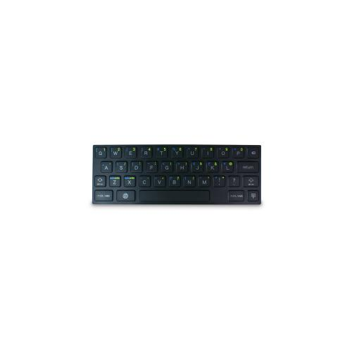 Hornettek Ozone Keyflex Black Silicone Keyboard w/ Physical Buttons for Apple iPad 2/3/4