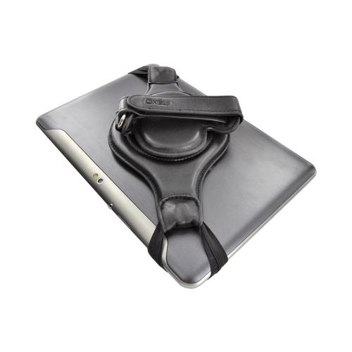 "OEM Helo Tablet Strap PRO Universal 10"" Tablet (Like the New iPad) 360° Rotating Genuine Leather Strap - Black"