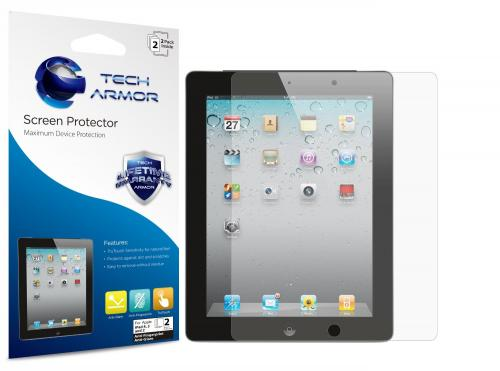 Tech Armor Anti-Glare/Anti-Fingerprint Combo Screen Protector for Apple iPad 4TH Gen/iPad 3 iPad 2 [2 pack]