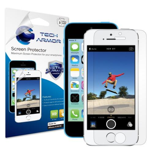 Tech Armor Apple iPhone 5/5c/5s High Definition (HD) Clear Screen Protectors [3-Pack]