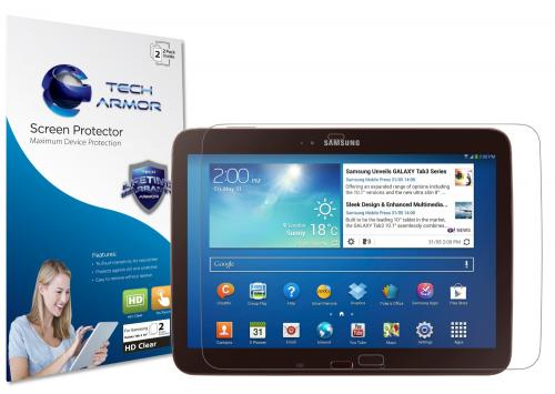 "Tech Armor Samsung Galaxy Tab 3 - 10"" Premium High Definition (HD) Clear Screen Protector [2-Pack]"