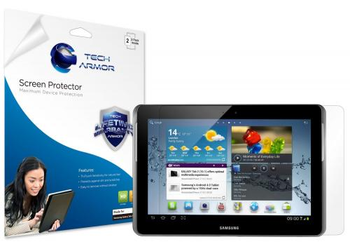 "Tech Armor Samsung Galaxy Tab 2 10"" Premium High Definition (HD) Clear Screen Protector"