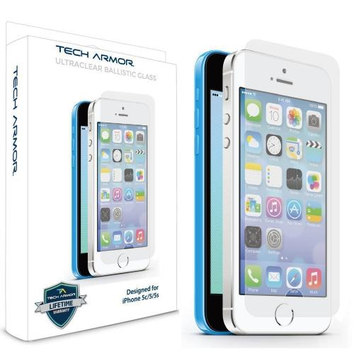 Tech Armor Apple Iphone 5/5c/5s Premium Ballistic Glass Screen Protector - Protect Your Screen From Scratches And Drops - Maximize Your Resale Value