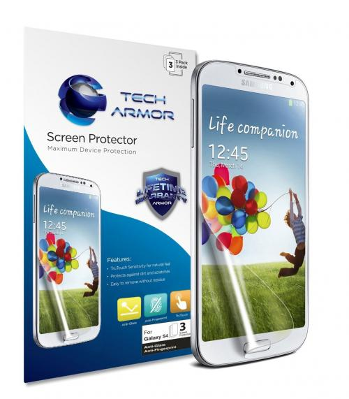 Tech Armor Samsung Galaxy S4 (Not S4 ACTIVE) Anti-Glare/Anti-Fingerprint (Matte) Screen Protectors [3-Pack]