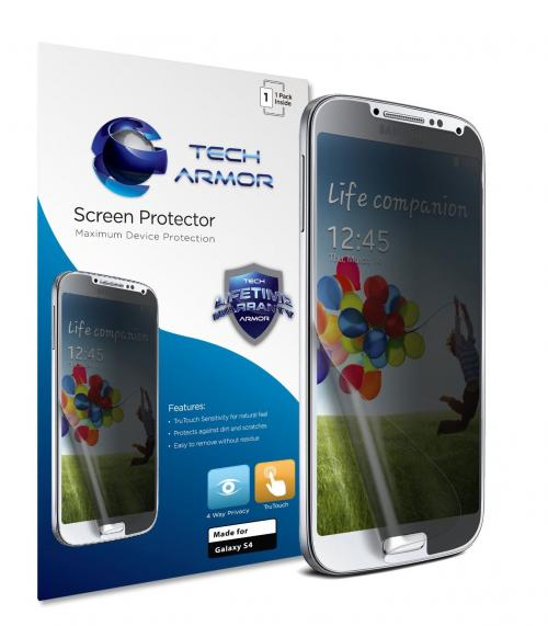 Tech Armor Samsung Galaxy S4 (Not S4 ACTIVE) 4-Way 360 Degree Privacy Screen Protector [1-Pack]