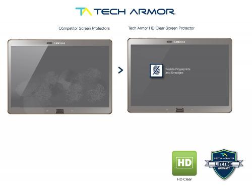 Tech Armor Samsung Galaxy Tab S 10.5 inch High Definition (HD) Clear Screen Protectors [2-Pack]