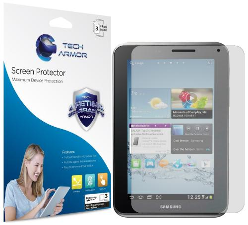 "Tech Armor Samsung Galaxy Tab 2 7"" Anti-Glare/Anti-Fingerprint (Matte) Screen Protectors [3-Pack]"