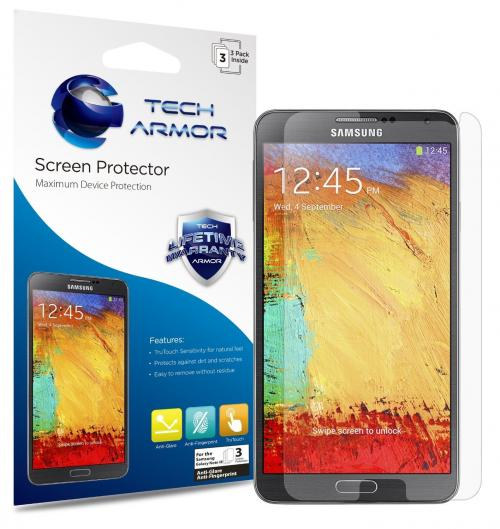 Tech Armor SP-AGF-SAM GN3-3 premium anti glare and anti-fingerprint screen protector for Samsung Galaxy Note 3 [3-Pack]