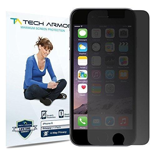Tech Armor Apple iPhone 6 4-Way 360 Degree Privacy Screen Protector [1-Pack]