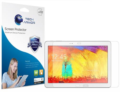 Tech Armor Samsung Galaxy Note 10.1 (2014 Edition) and Galaxy Tab Pro 10.1 High Definition (HD) Clear Screen Protector [3-Pack]