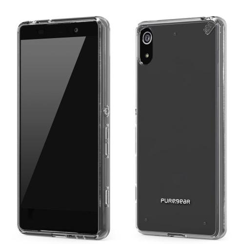 Sony Xperia Z4V Case, PUREGEAR Slim Shell Series [Clear] Combined Flexible Rubber and Hard Polycarbonate Case