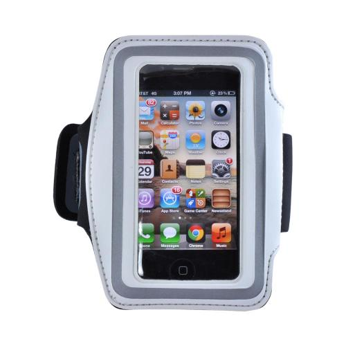 White/ Silver OEM Naztech Armband for Smart Phones and MP3 Players