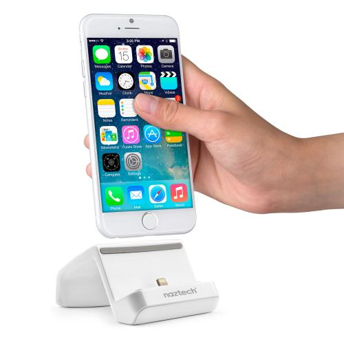 Naztech MFI Lightning Compatible Charge & Sync Super Dock [White] w/ Cable for Apple iPhone 6S/ 6/ 5S/ iPad Mini