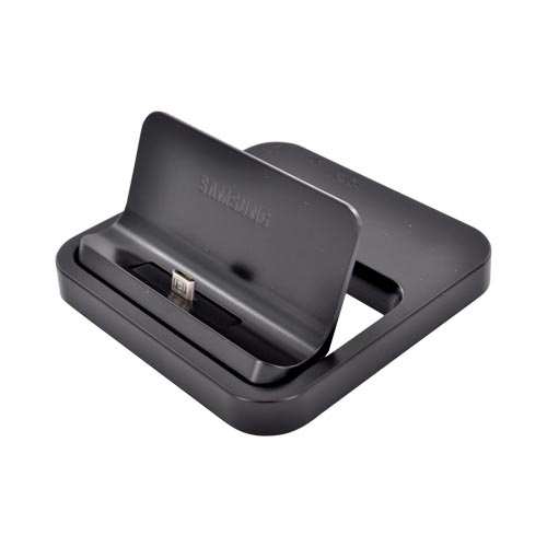 Samsung Galaxy Universal Micro USB Desktop Dock w/ Micro USB Travel Charger - Black