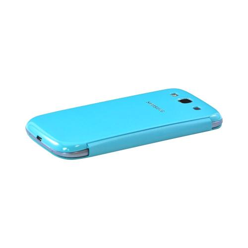 OEM Samsung Galaxy S3 Protective Flip Cover Hard Case, EFC-1G6FLEGSTA - Light Blue