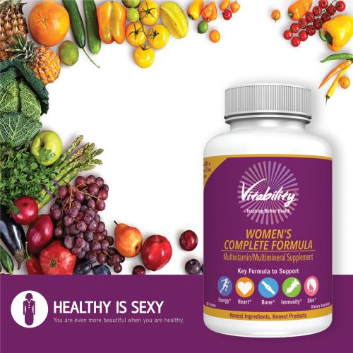 Vitability Women's Complete Formula; 180 Tabelets Dietary Supplement; Multivitamin/ Multimineral Supplement For Your Energy, Heart, Bone, Immunity, And Skin!