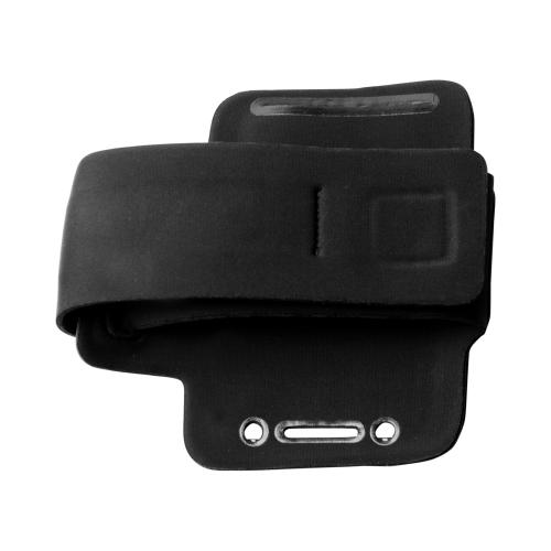 iLuv Black Night Reflector Sports Armband Nite Glo Series w/ Earphone Holder & ID Slot for Apple iPhone 4/4S