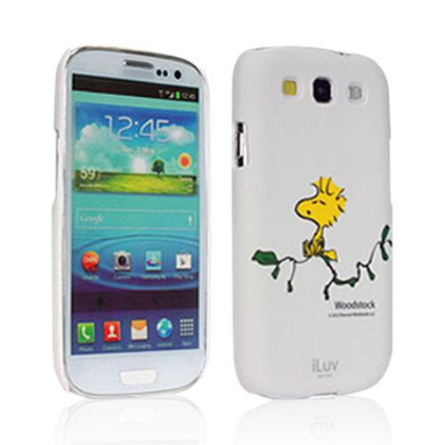 iLuv White Snoopy Character Series Hardshell Case for Samsung Galaxy S3 i9300 - ISS254WWHT