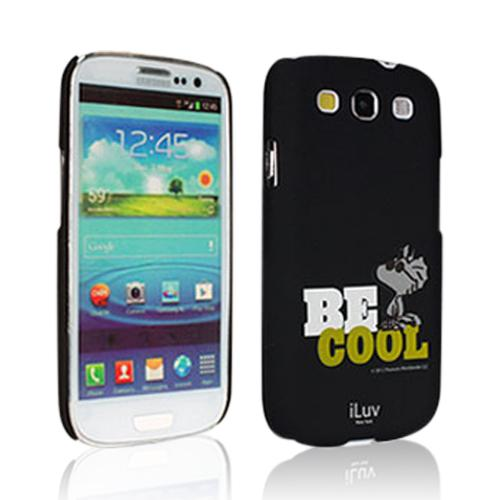 iLuv Black Snoopy Behavior Series Hardshell Case for Samsung Galaxy S3 i9300 - ISS256BCBLK