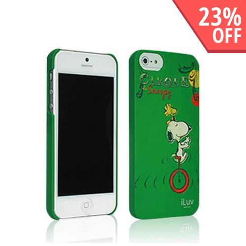 iLuv Green Snoopy Vintage Series I Hard Shell Case for Apple iPhone 5/5S - ICA7H382GRN