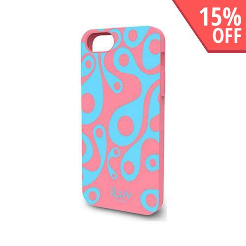 iLuv Aurora Series Pink/ Baby Blue Glow in the Dark Hard Case for Apple iPhone 5/5S
