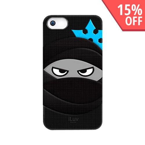 iLuv Glow In The Dark Ninja in Black Silicone Case for Apple iPhone 5/5S