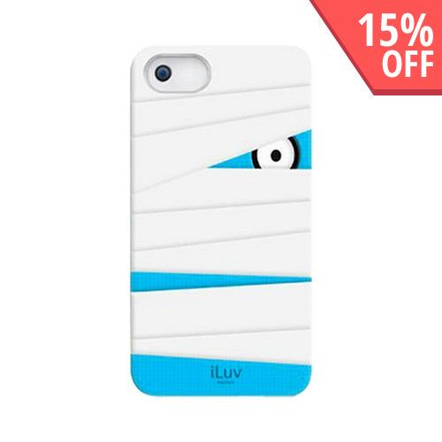 iLuv Glow In The Dark Mummy in White Silicone Case for Apple iPhone 5/5S