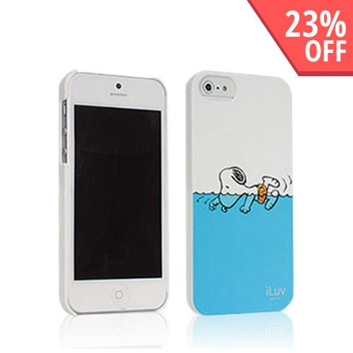 iLuv White Snoopy Sports Series I Hardshell Case for Apple iPhone 5/5S - ICA7H383WHT
