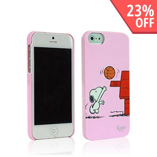 Apple iPhone SE / 5 / 5S  Case, iLuv [Pink Snoopy] Sports Series Hardshell Case - ICA7H383PNK
