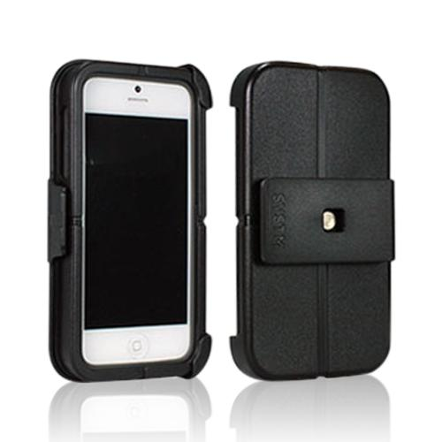 Incase SYSTM Black/ Gray Hard Cover on Silicone Case w/ Belt Clip for Apple iPhone 5/5S
