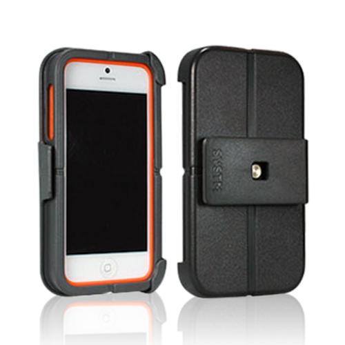 Incase SYSTM Gray/ Orange Hard Cover on Silicone Case w/ Belt Clip for Apple iPhone 5/5S