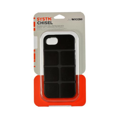 Apple iPhone SE / 5 / 5S  Case, Incase Systm [Black/ Gray] Chisel Series Hard Case