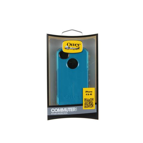 Otterbox AT&T/ Verizon Apple iPhone 4, iPhone 4S Hybrid Commuter Series w/ Screen Protector - Dark Teal/ Light Teal