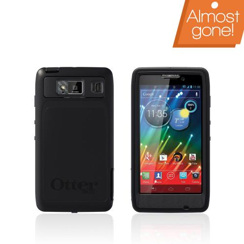 Otterbox Black Defender Series TPU Over Hard Case w/ Holster & Built-In Screen Protector for Motorola Droid RAZR HD - 77-20134