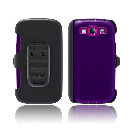 OEM Otterbox Samsung Galaxy S3 Defender Series Silicone Over Hard Case w/ Holster - Boom Dark/ Light Purple