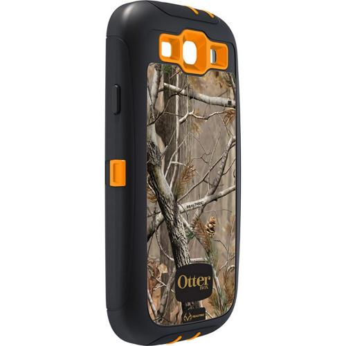 OEM Otterbox Defender Samsung Galaxy S3 Hard Case w/ Built-In Screen Protector & Holster - Real Tree Camouflage w/ Orange