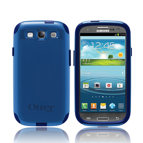 OEM Otterbox Samsung Galaxy S3 Hybrid Commuter Series Case w/ Screen Protector - Night Sky Blue/ Dark Blue