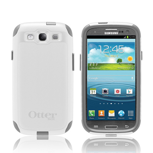 OEM Otterbox Samsung Galaxy S3 Hybrid Commuter Series Case w/ Screen Protector - Glacier Gray/ White