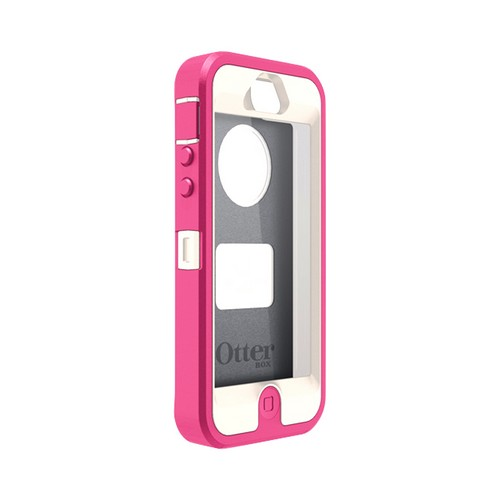 Otterbox Hot Pink/ Beige Defender Series Silicone Over Hard Case w/ Holster & Screen Protector for Apple iPhone 5