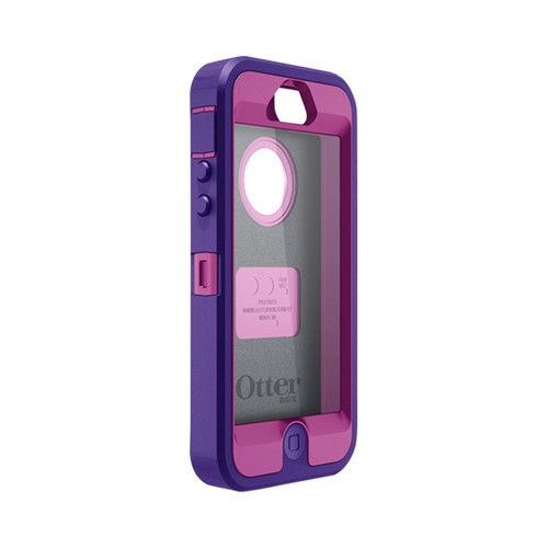 Otterbox Purple/ Plum Defender Series Silicone Over Hard Case w/ Holster & Screen Protector for Apple iPhone 5
